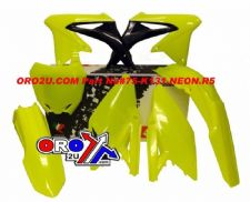 New RMZ 450 08-16 Plastic Kit Neon Yellow Racetech Motocross Plastics